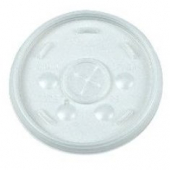 Dart - Lid, Straw Slot (Sorbet Lid) for 16 oz Foam Cups, Translucent Plastic