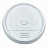 Dart - Lid, Sip-Thru (Coffee Style) for 16 oz Foam Cups, White Plastic