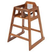 Winco - High Chair, Walnut Wooden Finish, Unassembled