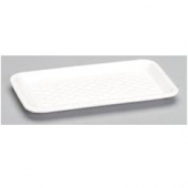 Genpak - Meat Tray, White, #17S Supermarket, 8.25x4.75x.5