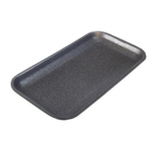 Meat Tray, 17S Supermarket Black Foam, 8.25x4.75x.5