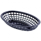 Tablecraft - Basket, Black Oval Plastic, 9.375x6x1.875