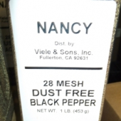 Nancy Brand - Black Pepper, Ground, 28 Mesh Dust Free, 1 Lb