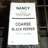 Nancy Brand - Black Pepper, Coarse, 1 Lb