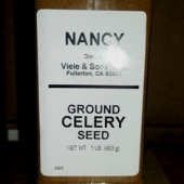 Nancy Brand - Celery Seed, Ground, 1 Lb