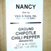 Nancy Brand - Chipotle Chili, Ground, 1 Lb
