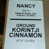 Nancy Brand - Cinnamon, Ground Korintji, 1 Lb