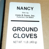 Nancy Brand - Cloves, Ground, 1 Lb