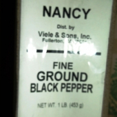 Nancy Brand - Black Pepper, Fine, 1 Lb