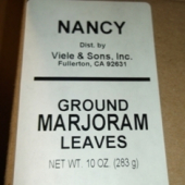 Nancy Brand - Marjoram, Ground, 10 oz