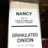 Nancy Brand - Onion, Granulated, 1 Lb