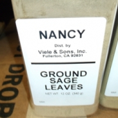 Nancy Brand - Sage, Ground, 12 oz