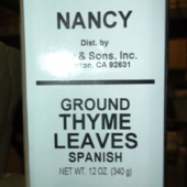 Nancy Brand - Thyme, Ground, 1 Lb