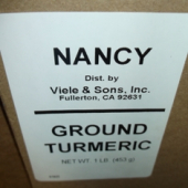 Nancy Brand - Turmeric, Ground, 1 Lb