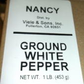 Nancy Brand - White Pepper, Ground, 1 Lb