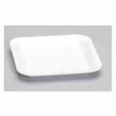 Meat Tray, White, #1S Supermarket, 5.25x5.25x.5