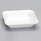Supermarket Tray, #1 White Foam, 5.25x5.25x1