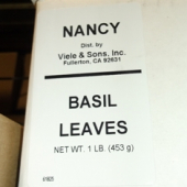 Nancy Brand - Basil Leaves, Whole, 1 Lb