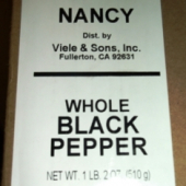 Nancy Brand - Black Pepper, Whole, 1 Lb