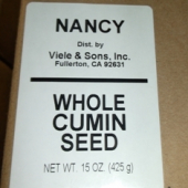 Nancy Brand - Cumin Seed, Whole, 15 oz