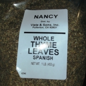 Nancy Brand - Thyme Leaves, Whole, 1 Lb