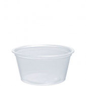 Dart - Container, 2 oz Clear Plastic Conex Complement Portion Container, 2.5x2x1