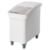 Winco - Ingredient Bin with Clear Top, 27 Gallon with Brake Casters and Scoop