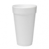"Dart - Foam Cup, White, 20 oz, 6.1"" Height"