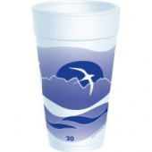Dart - Foam Cup, Horizon Stock Print, 20 oz