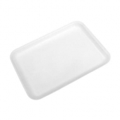 Meat Tray, 20S Supermarket White Foam, 8.5x6.5x.5