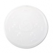 Dart - Lid, Straw Slot (Sorbet Lid) for 24 oz Foam Cups, Translucent Plastic