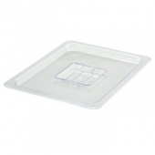 Winco - Food Pan Solid Cover, 1/2 Size Clear PC Plastic