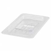 Winco - Food Pan Solid Cover, 1/4 Size Clear PC Plastic