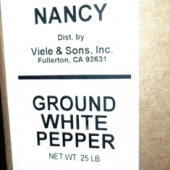 Nancy Brand - White Pepper, Ground, 25 Lb