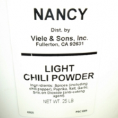 Nancy Brand - Chili Powder, Light, Pail, 25 Lb