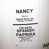 Nancy Brand - Paprika, Ground Spanish, 25 LB