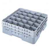 "Cambro - Camrack Glass Rack with 25 Compartments, Fits 4.5"" Tall Glass, Soft Gray Plastic"