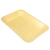 Meat Tray, 25S Yellow Foam, 8.5x14.75x1