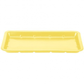 Genpak - Meat Tray, Yellow, #25S Supermarket, 8x14.75x1.06