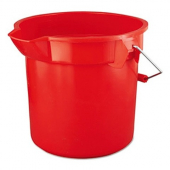 Rubbermaid - Bucket, 14 Quart Red Round Plastic
