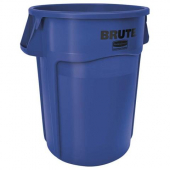 Rubbermaid - Brute Waste Container, 44 gal Vented Round Blue Plastic
