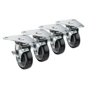 "Krowne Metal - Casters, Heavy Duty Large Triangle Plate, 5"" Wheel with Lock, 4 count"