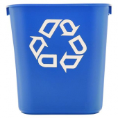 Rubbermaid - Reycling Container, 13.625 Quart Blue, each