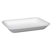 Meat Tray, 2P Heavy White Foam, 8.25x5.75x1.2
