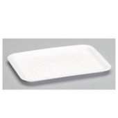Genpak - Meat Tray, White, #2S Supermarket, 8.25x5.75x.5