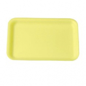 Genpak - Meat Tray, Yellow, #2S Supermarket, 8.25x5.75x.5