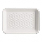 Genpak - Meat Tray, White, #2 Supermarket, 8.25x5.75x1