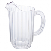 Winco - Water Pitcher, 48 oz Clear PC Plastic