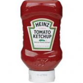 Heinz - Tomato Ketchup Upside Down/Flat Bottom Squeeze Bottle, 20 oz