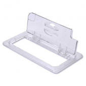 Cambro - Camwear Food Pan FlipLid with Spoon Notch, Fits 1/3 Size, 12.75x6.94, Clear PC Plastic